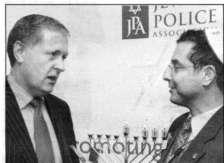 Light programme: Sir Ian Blair (left) with Jewish Police Association secretary Danny Phillips