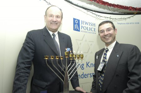 Sir John Stevens (left) with PC Danny Phillips